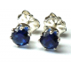 4mm Blue Sapphire Sterling Silver Earrings