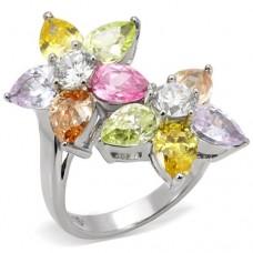 SZ 5-10 Mult-Color Flower Ring