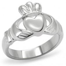 SZ 6. 7. 8. Silver Claddagh Ring