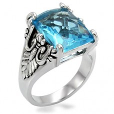 Aqua Crest Cocktail Ring