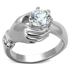 Stainless CZ In Hand Ring