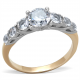 7 Stone Engagement Ring Rose Gold Plated