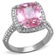 Brilliant Pink CZ Ring